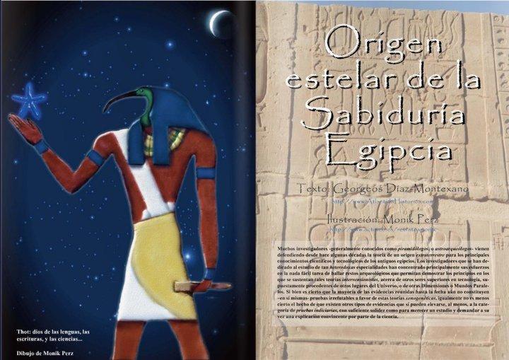 EL ORIGEN ESTELAR DE LA SABIDURIA EGIPCIA Por Georgeos Díaz-Montexano