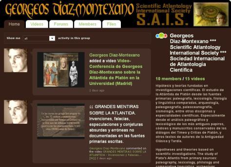 Georgeos Diaz-Montexano *** Scientific Atlantology International Society *** Sociedad Internacional de Atlantología Científica