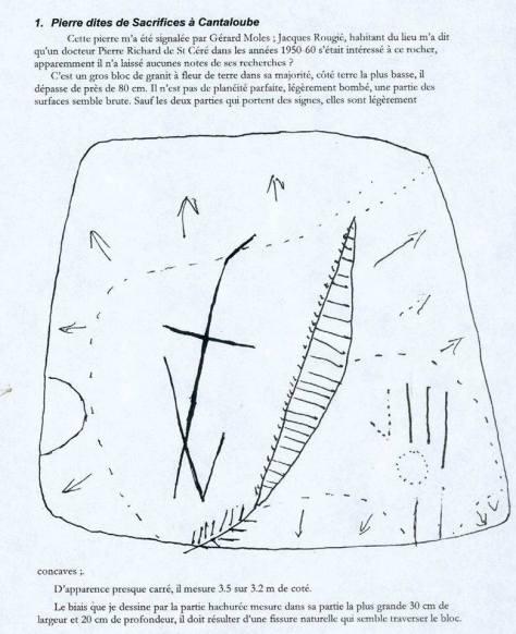 Piedra de Sacrificios de Cantaloube, Francia.