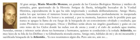 Las Orcas y la Atlántida - Mario Morcillo Moreno . In Memoriam