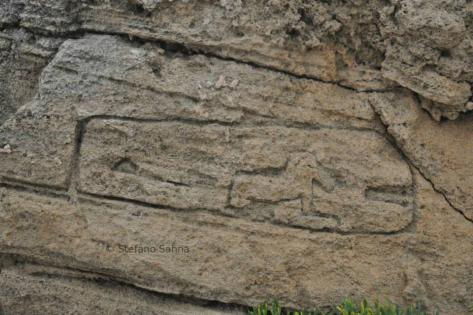 Cartucho con el nombre jeroglífico de Tharros. Foto: Stefano Sanna, 2012.