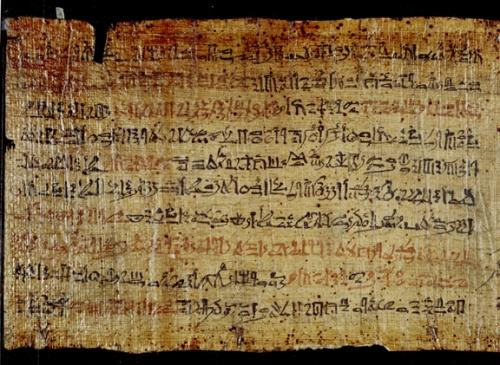 papiro de Ipuur (Ipuwer), Leiden, Museum.