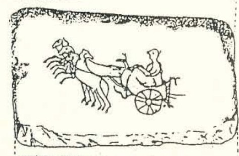 Caius o Kaius en su carro. http://www.man.es/man/dms/man/actividades/pieza-del-mes/historico/1997/MAN-Pieza-mes-1997-04-Pesa-telar-Azaila.pdf