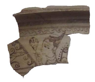 Fragmento de vasija del tipo kalathos (sombrero de copa) encontrada en Tossal de Sant Miquel (Llíria), Valencia, datado en los siglos III-II A.C.