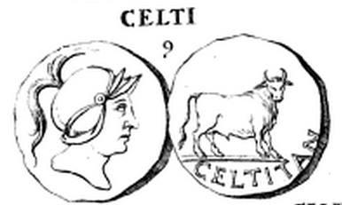 Otra ceca de la misma CELTITANIA... En esta con el omnpresente Toro de las monedas prerromanas de Iberia.