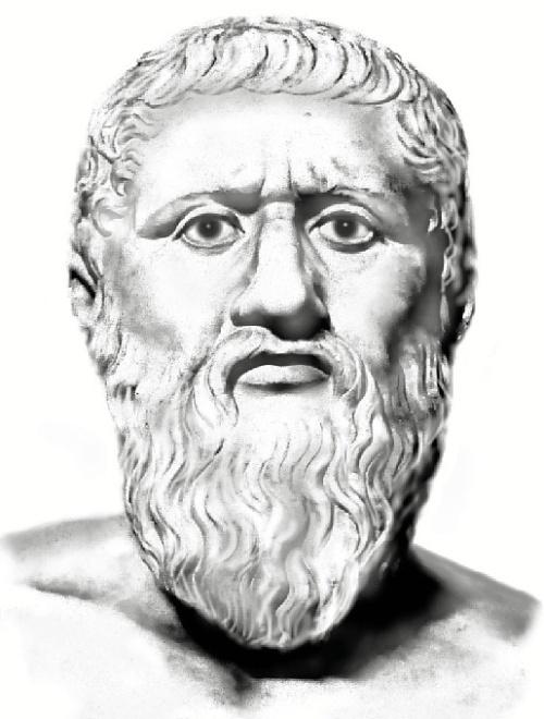 Sus investigaciones miran de una forma novedosa los textos del Timeo y el Critias de Platón. Dibujo: Monik Perz.