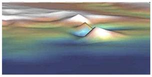 Tres estructuras piramidales descubiertas por Georgeos Díaz-Montexano, bajo el mar Atlántico, justo delante de Gibraltar, Iberia y Marruecos, en la misma área donde Platón localiza el comienzo de la isla Atlantis.