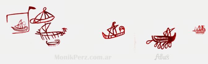 Barcos de la Atlántida, los más antiguos barcos con velas en la Cueva de la Laja Alta, Jimena de la Frontera, Cádiz.
