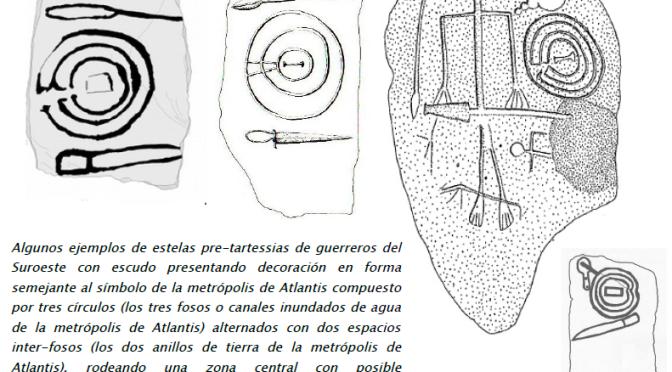 ¿EL SÍMBOLO DE LA CAPITAL DE ATLANTIS Y EL DIOS ATLAS EN LOS ESCUDOS DEL SUROESTE DE IBERIA?