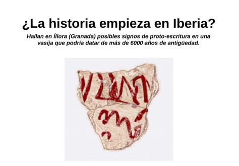 Inscripción de proto-escritural lineal pre-tartessia (ELTAR) hallada en un fragmento de vasija del Neolítico de unos 6000 años.